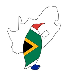 Penuin South Africa vector image vector image