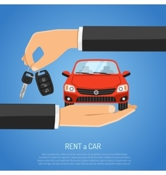 Rent car concept vector