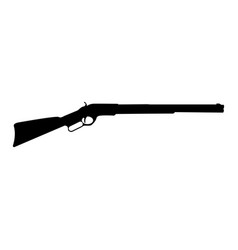 rifle black color icon vector image vector image