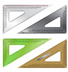 Set of drafting triangles vector