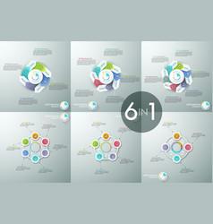 Set of infographic design layouts circular vector
