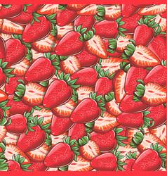 Vintage strawberry seamless pattern vector