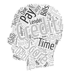 The best ways to boost your credit score text vector