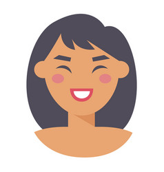 Fashion woman face modern city life concept happy vector