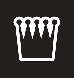 stylish black and white icon british crown vector image