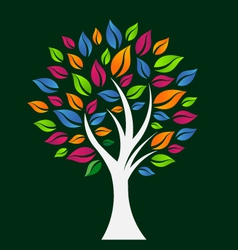 Happy Color Tree vector image