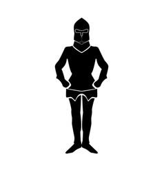 Armour black color icon vector
