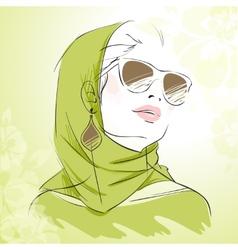 spring fashion girl vector image