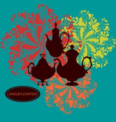 Indian coffee vector