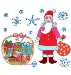basket Christmas vector image