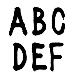 Hand written graffiti font type alphabet part 1 vector