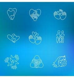 set of family logos vector image