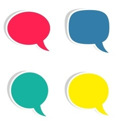 Sticky speech bubbles vector