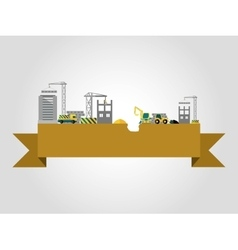Building construction concept vector