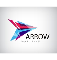 Abstract arrow logo icon isolated vector
