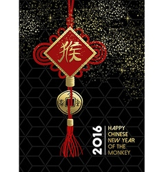 Happy chinese new year monkey traditional sign vector