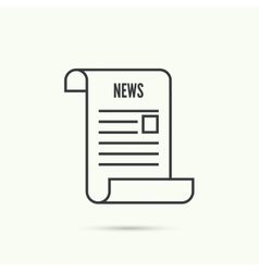 Icon newspaper vector