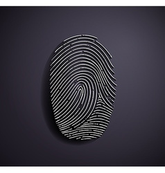 Flat metallic logo fingerprint vector