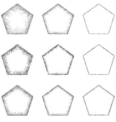 Pentagon shape set vector