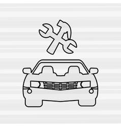 Car repair service design vector