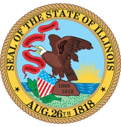 Illinois seal vector image