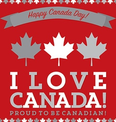 Retro sash canada day maple leaf card in format vector