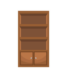 Bookcase furniture wooden bookcase vector