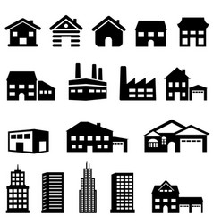 building and house architecture vector image