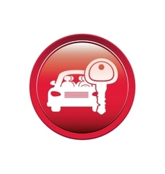 Button with car and key vector