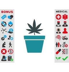 Cannabis Pot Icon vector image vector image