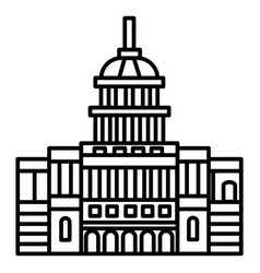 capitol usa line icon sign vector image