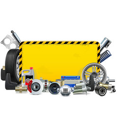 Car spares yellow frame vector