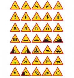 circulation signs vector image vector image