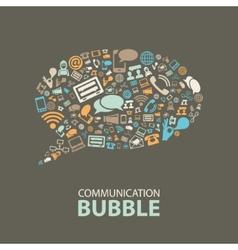 communication bubble vector image