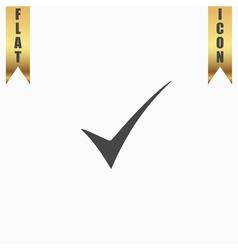Elegant check mark symbol vector
