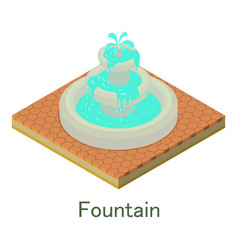 fountain icon isometric style vector image vector image