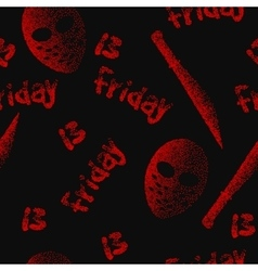 Friday the 13th seamless pattern Dotwork vector image vector image