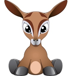 Funny antelope vector