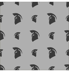 Greek helmet silhouette seamless pattern vector
