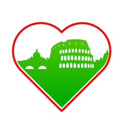 i love Italy template vector image