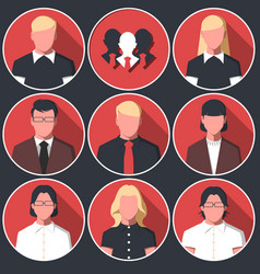 icons avatars of business men and women vector image