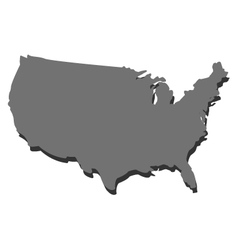 map of the united states vector image
