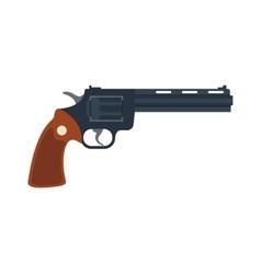 Old American colt revolver wild west handgun vector image