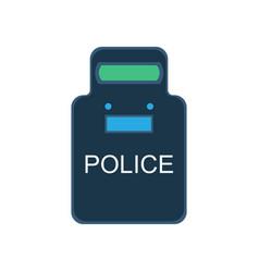 Police swat shield icon guard uniform security vector