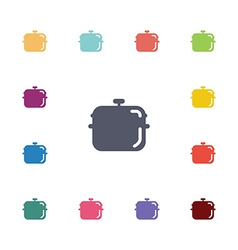 pot flat icons set vector image