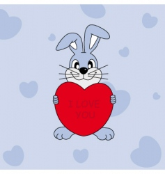 rabbit heart vector image