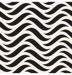 Seamless Black and White Horizontal Wavy vector image