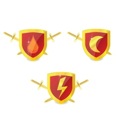 security shields vector image