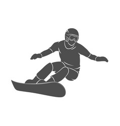 snowboarder jumping sport vector image