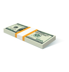 Stack of dollars vector image vector image